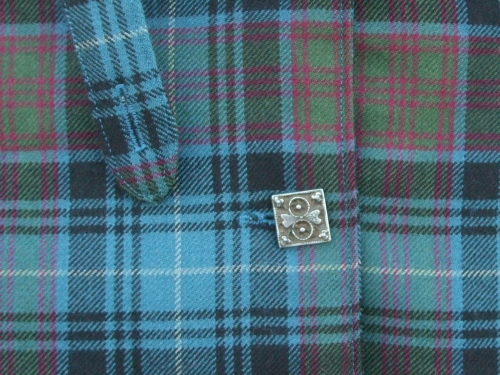 Wool Coat Front Button Detail
