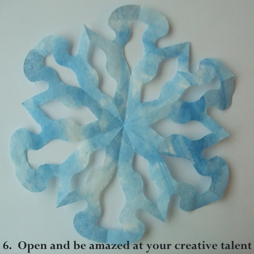 coffee filter snowflake tutorial
